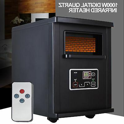 1500W Electric Heater Infrared With Remote