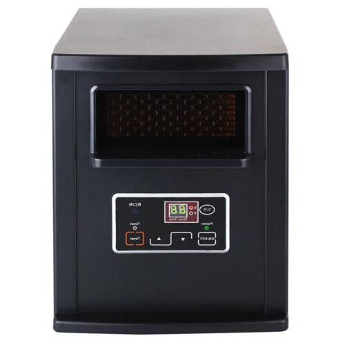 1500W Portable Heater Quartz with Remote Black