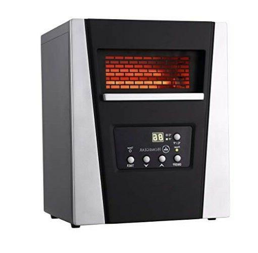 1500w infrared electric portable space heater black