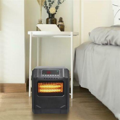1500W LED Quartz Space Heater Infrared Electric Heater Safe