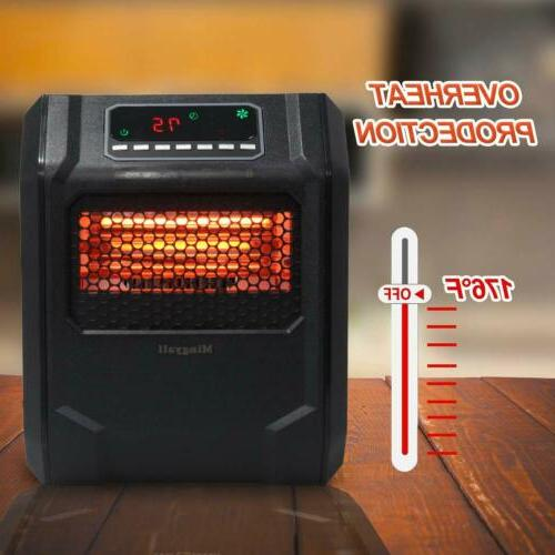 Mingyall Space Heater Infrared Electric Heater Safe Room
