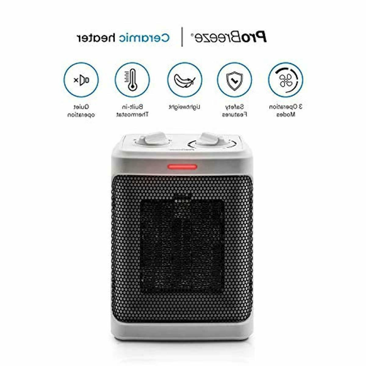 1500W Mini Heater Modes and Adjustable Thermostat