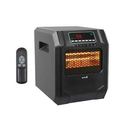 1500W Portable Electric 4 Quartz Infrared Safe Fan Space Hea