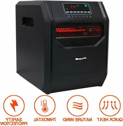 Portable 1500W Space Heater Fan Compact Home Office Quiet Ad