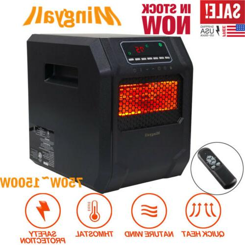 Mingyall 1500W Quartz Space Heater Infrared Electric LED Safe Large