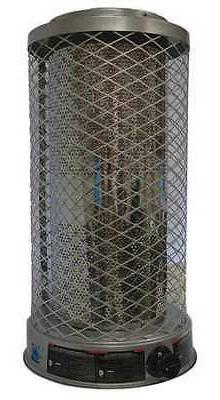 DAYTON 1WVL8 Radiant Portable Gas Heater, BtuH 50/70/100000,