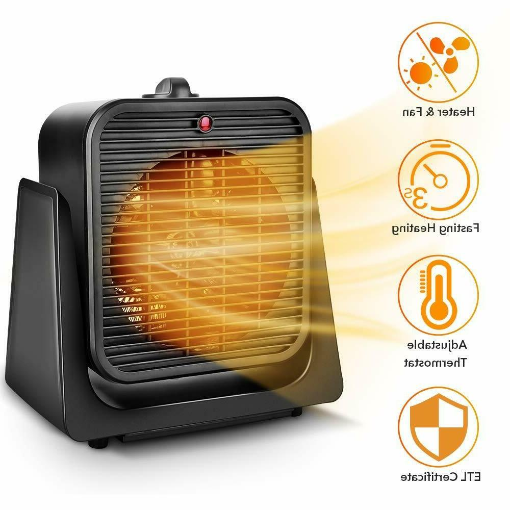 2 in1 portable space heater quiet combo