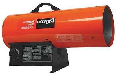 DAYTON 3VE57 Torpedo Portable Gas Heater, Liquid Propane, 70