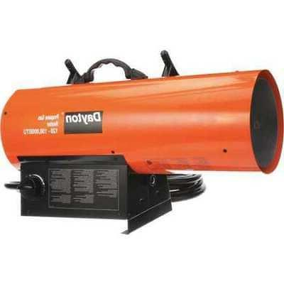 DAYTON 3VE58 Torpedo Portable Gas Heater, Liquid Propane, 12