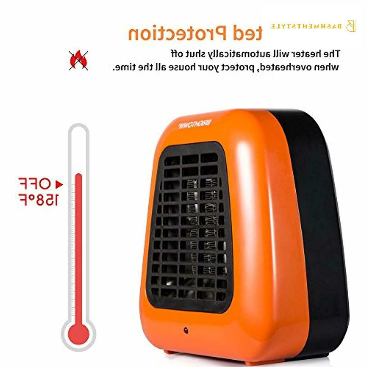 400-Watt Portable-Mini Heater Ceramic Space for Office Desktop