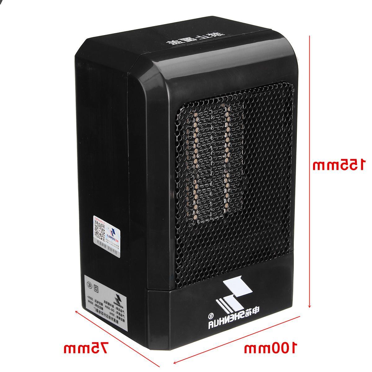 500W Portable <font><b>Mini</b></font> <font><b>Fan</b></font> <font><b>Space</b></font> US Home Office Conditioner Heating