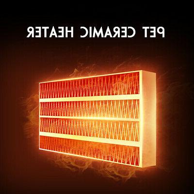 500W Mini Ceramic Heater Home Office Heating Portable Fan Silent