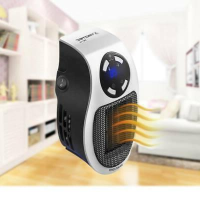 500W Mini Heater Portable Durable Home Wall-Outlet Space