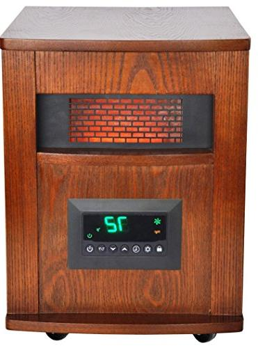 LifeSmart w/Wood and Large Room Infrared Brown