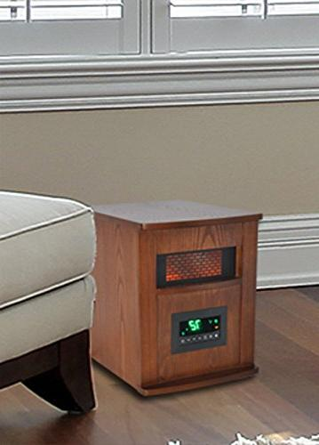LifeSmart w/Wood Cabinet Large Room Heater, Brown