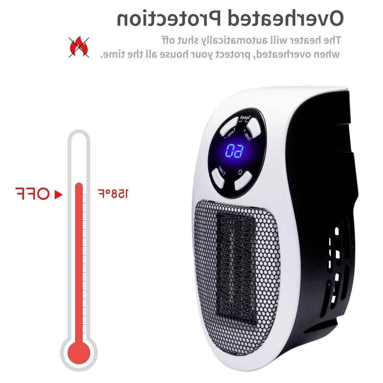 600W Mini Heater Fan Wall-Outlet