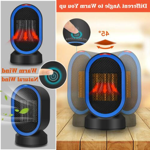 600W Portable Electric Space Heater Wall-Outlet Handy mini A