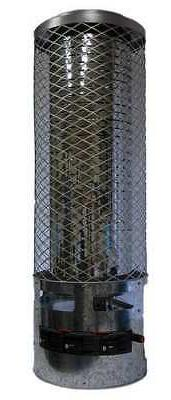 DAYTON 6BY72 Radiant Portable Gas Heater, BtuH 250000, Natur
