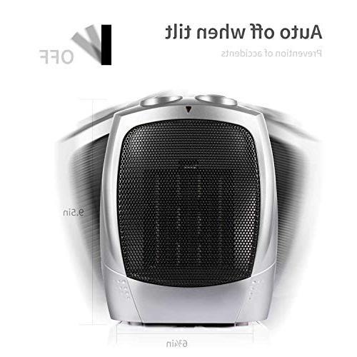 750W/1500W ETL Listed Space Heater Adjustable Thermostat, Fan