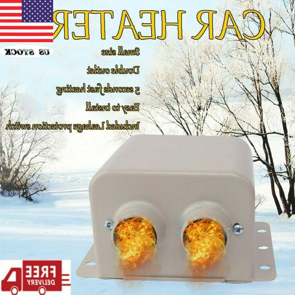 800w 12v car portable heater fan heated