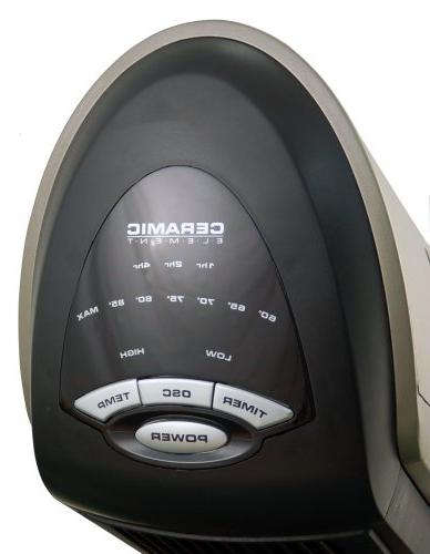 Ceramic Heater with Programmable Thermostat, 7-hour Remote