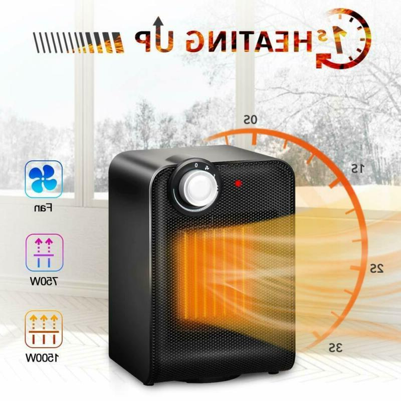 VIVREAL 90° Oscillating Heater, 1s Instant Warm Portable Heater