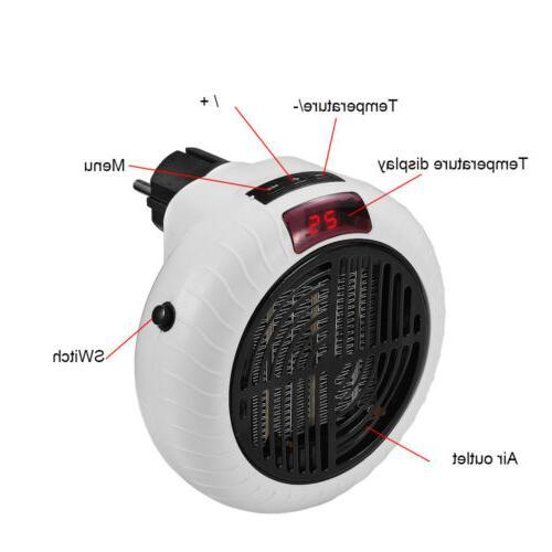 900W Fan Heater Ceramic Remote Silent