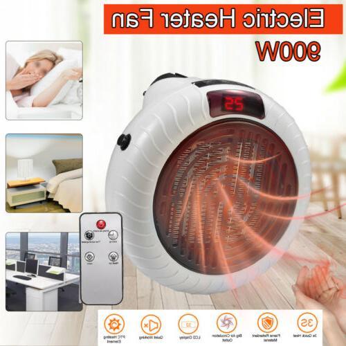 900W Portable Fan Ceramic Thermostat Remote Control