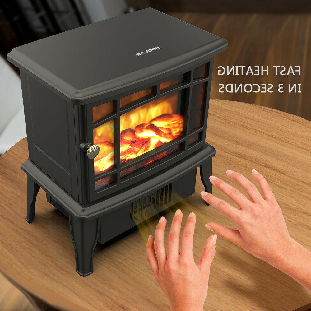 OPOLAR Fireplace Warmer Fire Flame Stove
