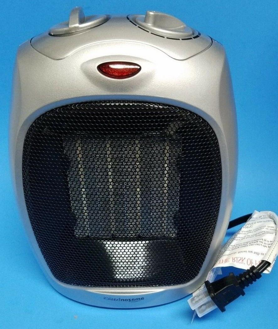 amazon basics ceramic space heater with adjustable