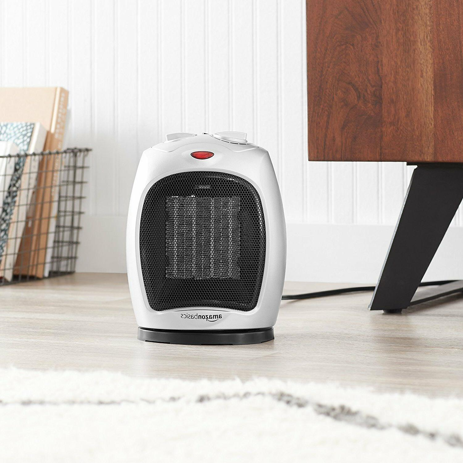 AmazonBasics 1500 Watt Oscillating Ceramic Space Heater Adjustable