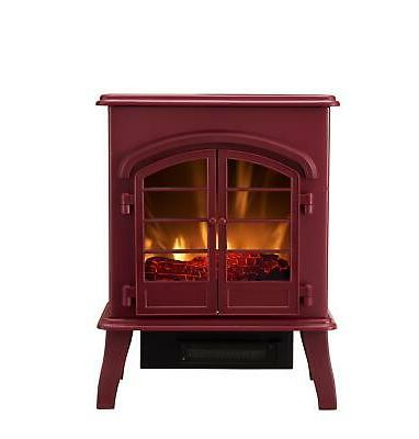 Bold Flame Electric Fireplace Space Heater, Glossy Red