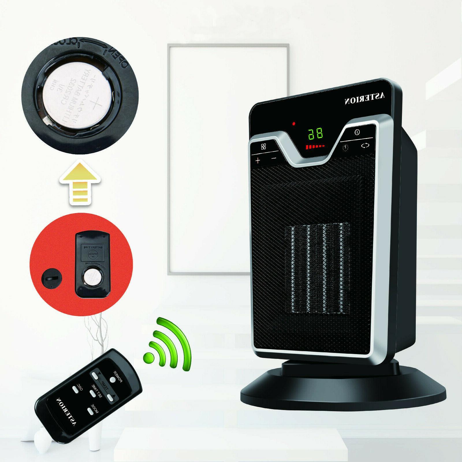 ceramic electric space heater tower digital controls