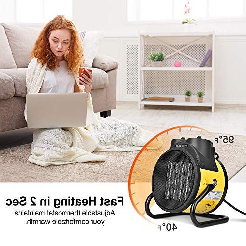 TRUSTECH Ceramic, Portable Space Adjustable 750W \ Heater with Hot Cool Fan, Overheat Energy-Saving Workplace