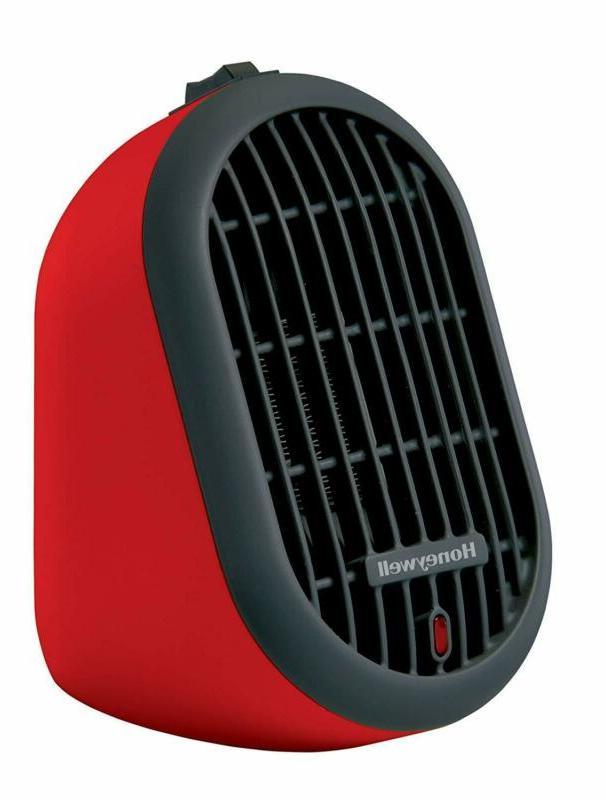 Honeywell Hce100R Heat Bud Ceramic Heater, Red