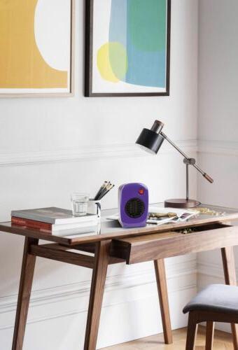 Ceramic Electric Heater Small 250W Purple