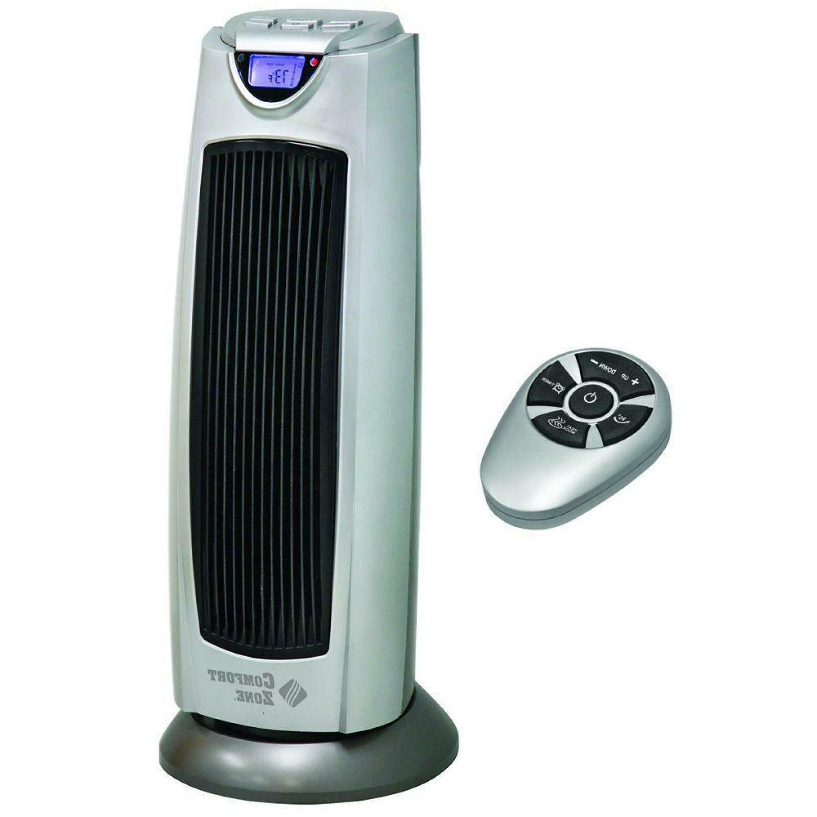 Comfort Zone Digital Ceramic Oscillating Electric Tower Heat