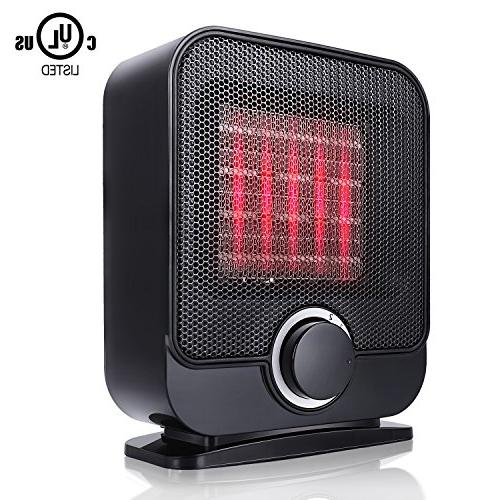 Ceramic Heater, Personal Electric Small with 3 Setting, Tip-Over PTC Heater Safety
