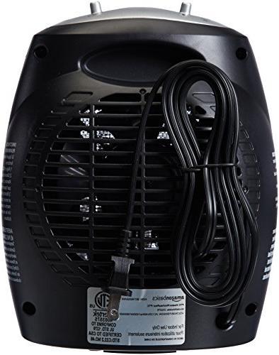 AmazonBasics 1500 Watt Space Heater Adjustable Thermostat Silver