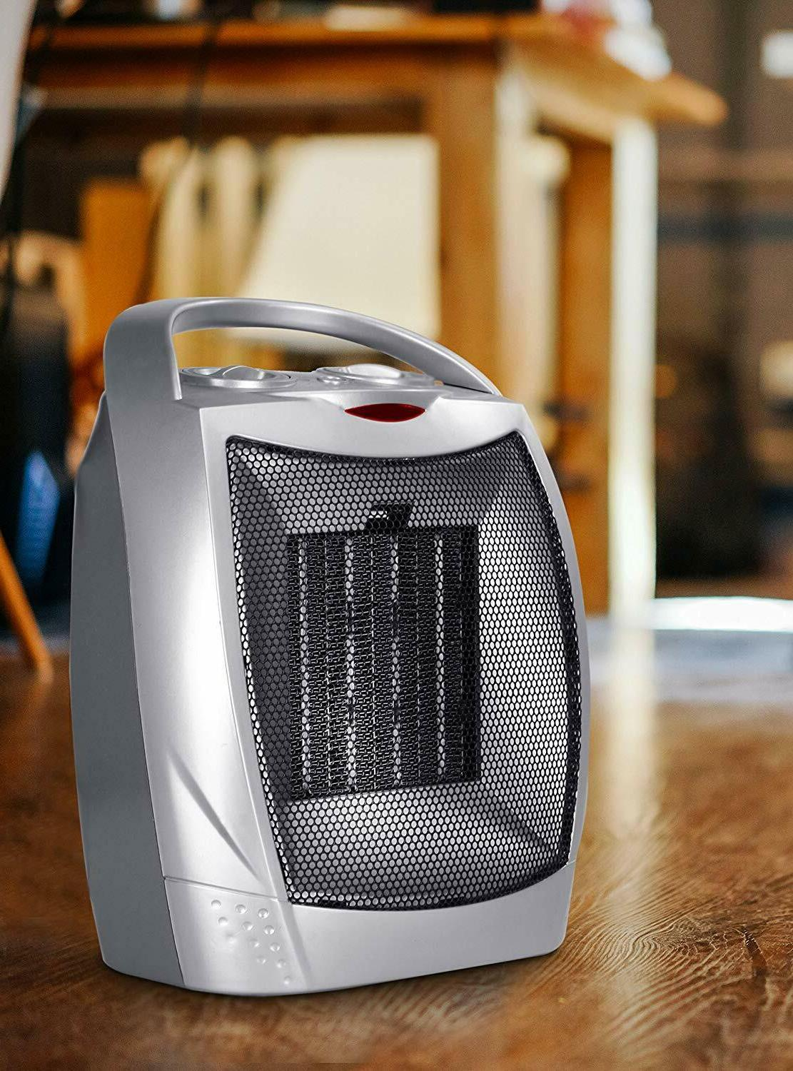 Ceramic Space Heater 750W/1500W Adjustable Thermostat