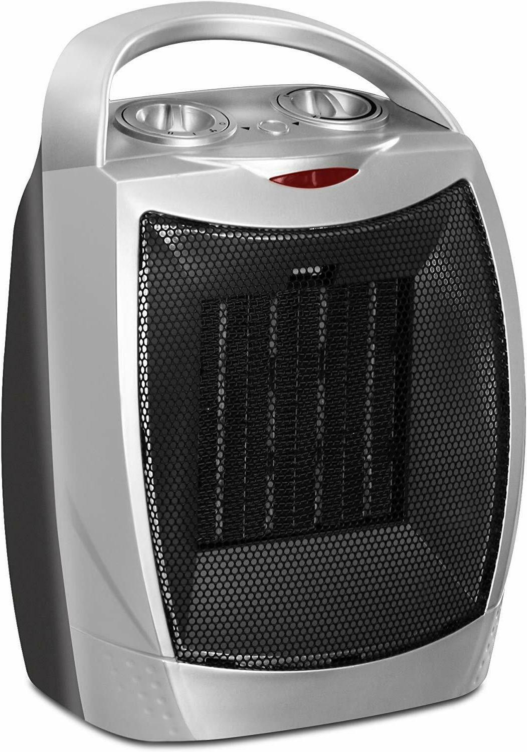ceramic space heater 750w 1500w adjustable thermostat