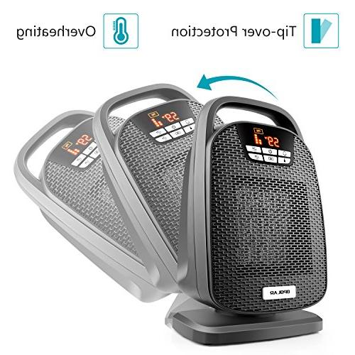 OPOLAR Space Heater Feature, Fast Heating Small Office Desk Powerful and Portable, ETL Approved