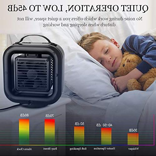 KNGUVTH Ceramic Portable Heater Ceramic Heater Fan with and