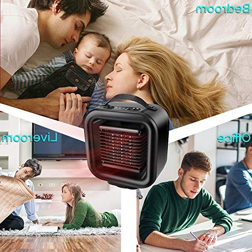 KNGUVTH Portable Heater Ceramic Heater Electric Heater Fan Oscillating with Tip-Over Protection Office/Indoor/Home
