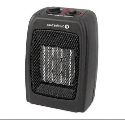 Ceramic Space Heater Compact Electric Comfort Zone Portable