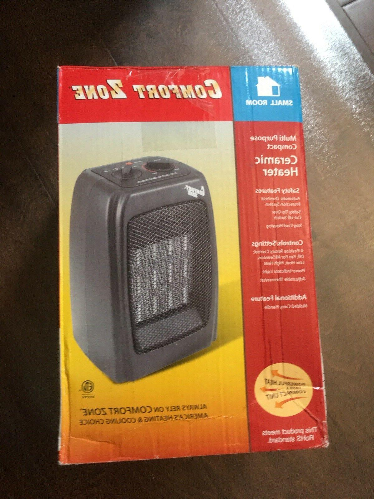 Comfort Zone Ceramic Space Heater CZ442WM Fan Forced Black