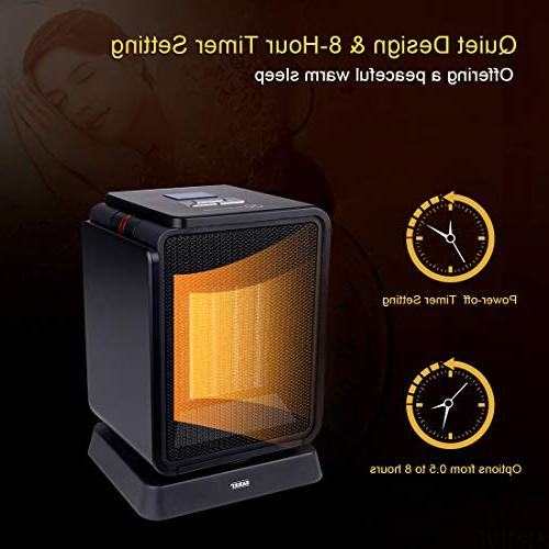 SARKI Space Electric Heater LCD Oscillating Heater Adjustable Thermostat, Timer - 1500W