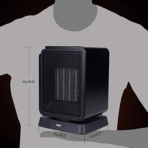 SARKI Electric Safe LCD Display, Mini Heater Adjustable Timer Portable 1500W