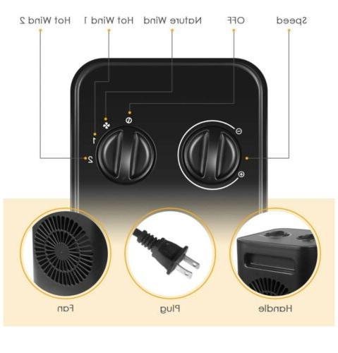 Ceramic Space Portable 750W/1500W Quiet & Heating