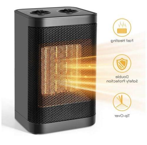 ceramic space portable heater 750w 1500w quiet